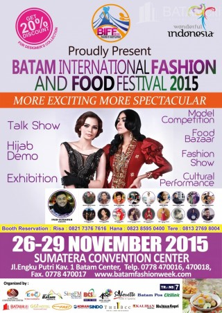 Batam Event - BATAM INTERNATIONAL FASHION AND FOOD FESTIVAL 2015